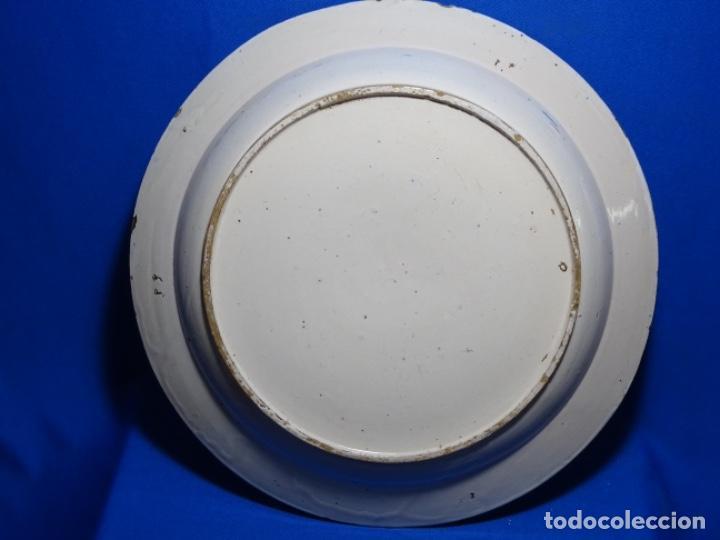 Antigüedades: GRAN PLATO DE TRIANA DEL SIGLO XIX.NIÑO CON CORDERO.BIEN CONSERVADO. - Foto 9 - 233035438