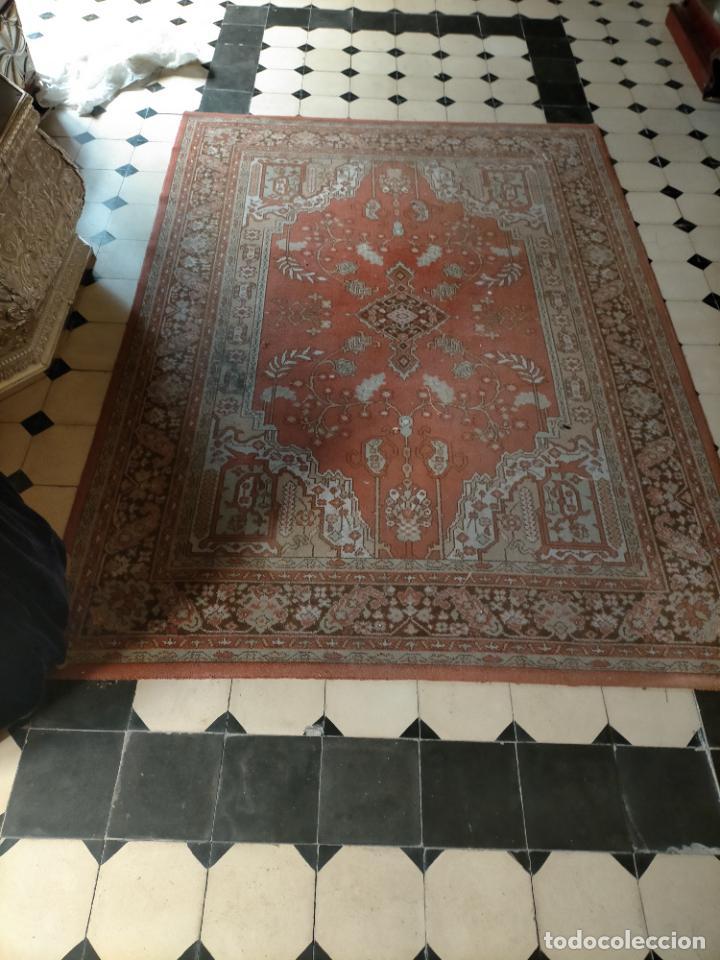 Antigüedades: gran alfombra, iglesia besamanos virgen cofradia , 230 x 167 - Foto 4 - 233075925