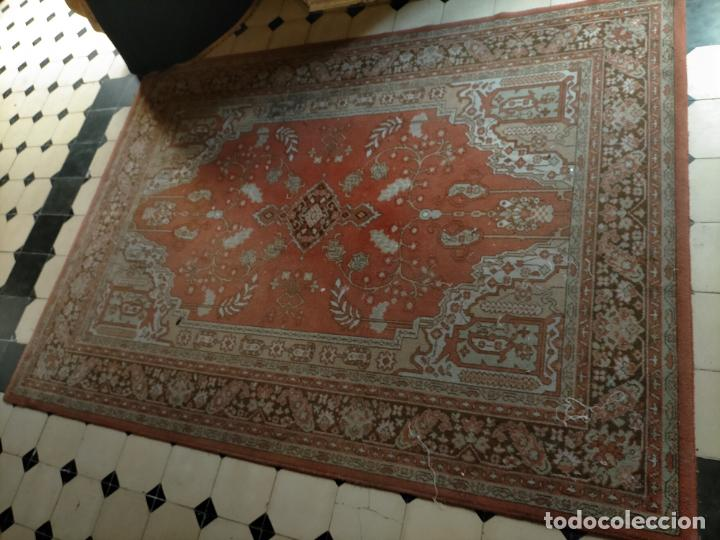 Antigüedades: gran alfombra, iglesia besamanos virgen cofradia , 230 x 167 - Foto 11 - 233075925