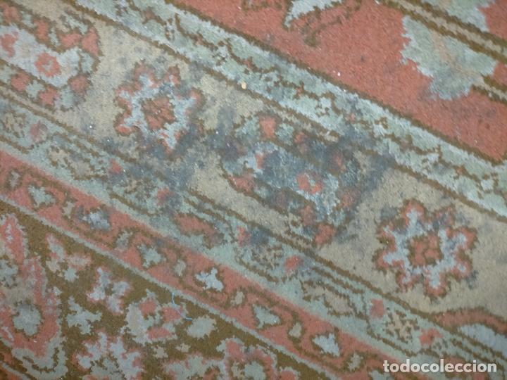Antigüedades: gran alfombra, iglesia besamanos virgen cofradia , 230 x 167 - Foto 19 - 233075925