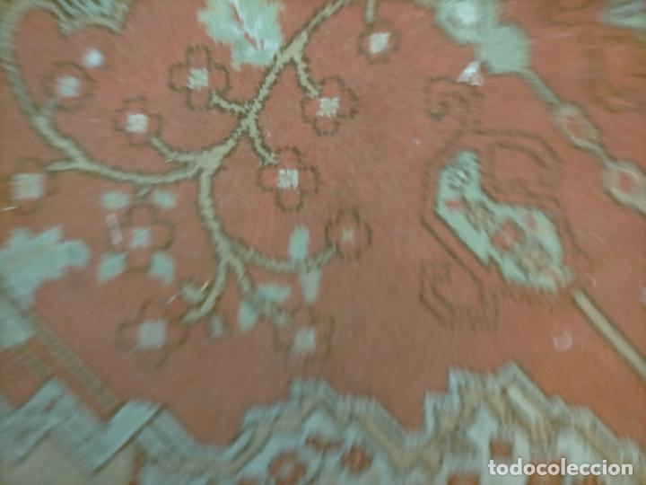 Antigüedades: gran alfombra, iglesia besamanos virgen cofradia , 230 x 167 - Foto 21 - 233075925