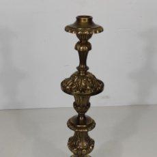 Antigüedades: ANTIGUO CANDELABRO - BRONCE CINCELADO - ALTURA - 51 CM - PESO - 4 KG - S. XIX. Lote 233080050