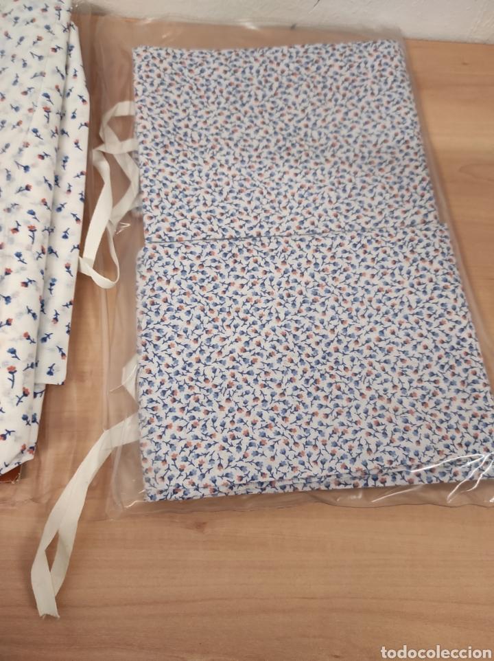 Antigüedades: Juego de sábanas de matrimonio de 135 floreadas encimera 210 x 260 - Foto 2 - 233093090