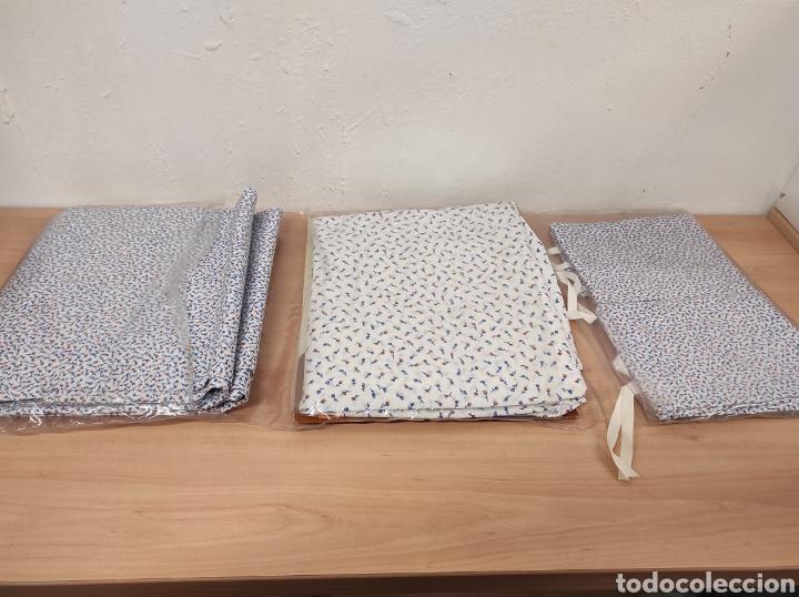 Antigüedades: Juego de sábanas de matrimonio de 135 floreadas encimera 210 x 260 - Foto 9 - 233093090