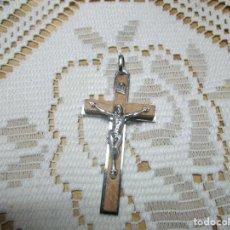 Antigüedades: PRECIOSO CRUCIFIJO CRUZ AÑOS 70. COMO NUEVO. Lote 233110645