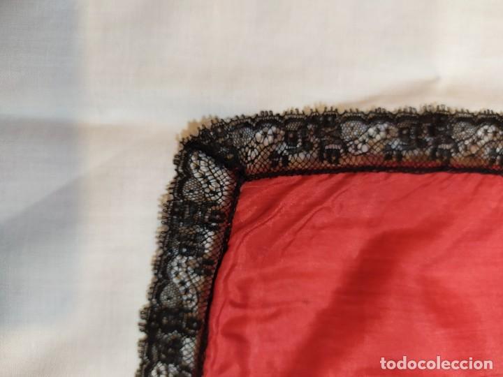 Antigüedades: PAÑUELO DE SEDA Y ENCAJE - Foto 2 - 233114585
