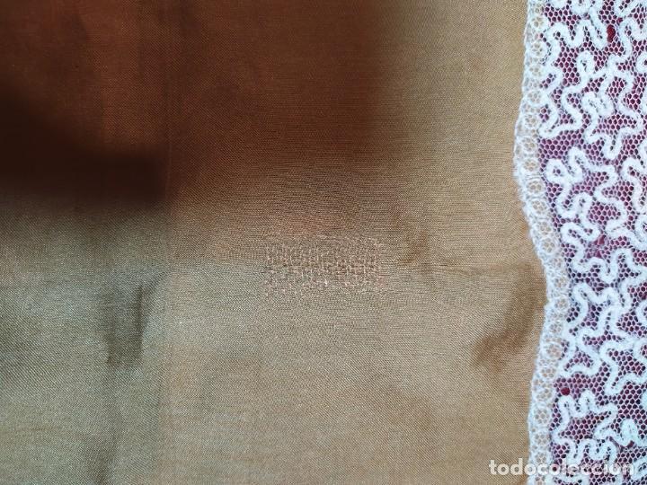Antigüedades: pañuelo de seda y encaje - Foto 2 - 233116380
