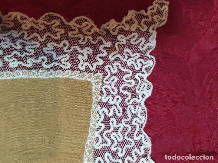 Antigüedades: pañuelo de seda y encaje - Foto 3 - 233116380