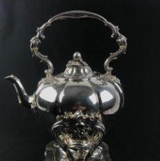 Antigüedades: ANTIGUO SILVER PLATE SAMOVAR VICTORIANO MARCAS -EDWARD & WILLIAM BARNARD- LONDON 1850. Lote 233162780