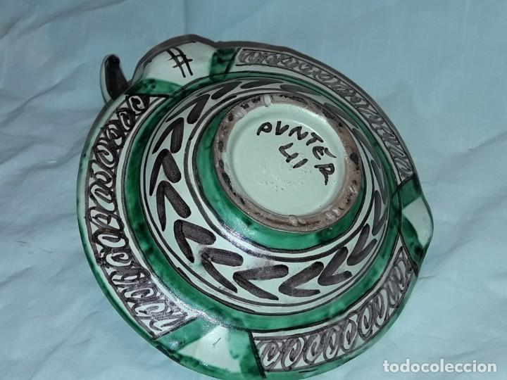 Antigüedades: Bella palmatoria de aceite cerámica Domingo Punter nº41 Teruel - Foto 10 - 233187405