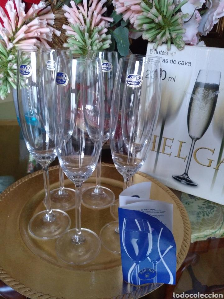 6 COPAS CRISTAL BOHEMIA (Antigüedades - Cristal y Vidrio - Bohemia)