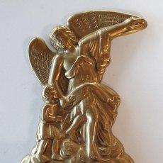 Antigüedades: BENDITERA DE BRONCE. Lote 233201045