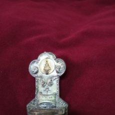 Antigüedades: ANTIGUA BENDITERA DE HOJALATA N.S DE COVADONGA.ASTURIAS.. Lote 233205065