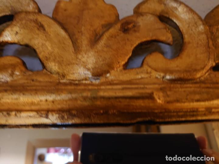 Antigüedades: GRAN ESPEJO MADERA TALLADA SIGLO XIX - Foto 5 - 233230270