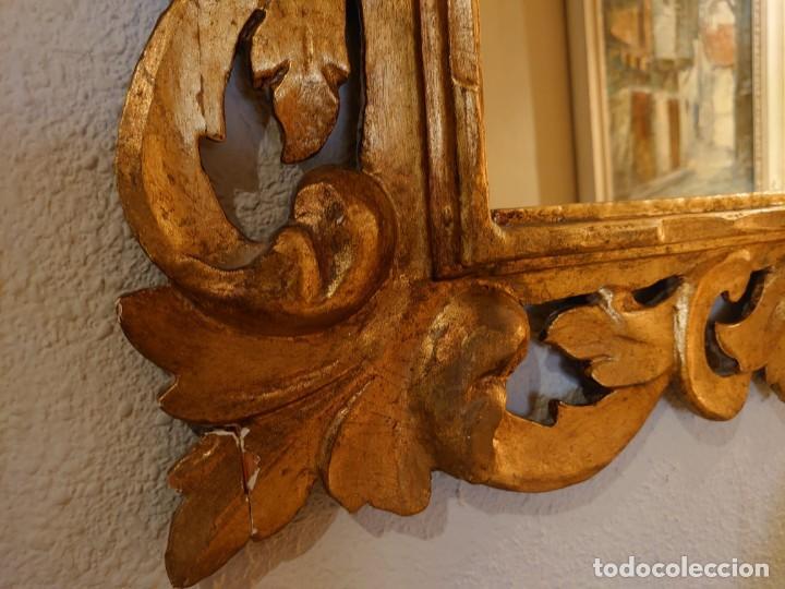 Antigüedades: GRAN ESPEJO MADERA TALLADA SIGLO XIX - Foto 6 - 233230270
