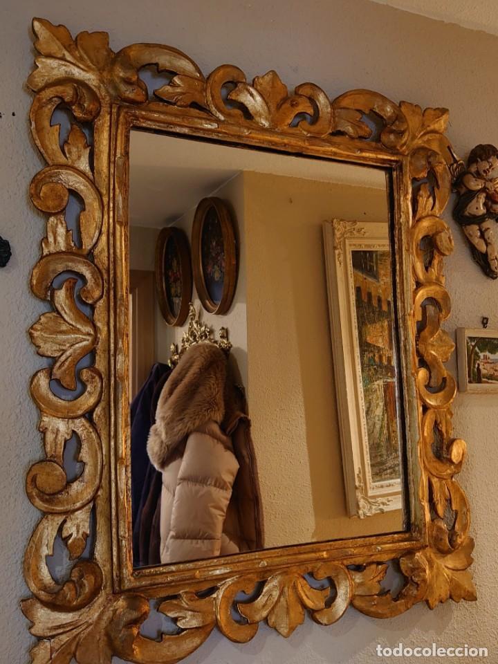 Antigüedades: GRAN ESPEJO MADERA TALLADA SIGLO XIX - Foto 14 - 233230270