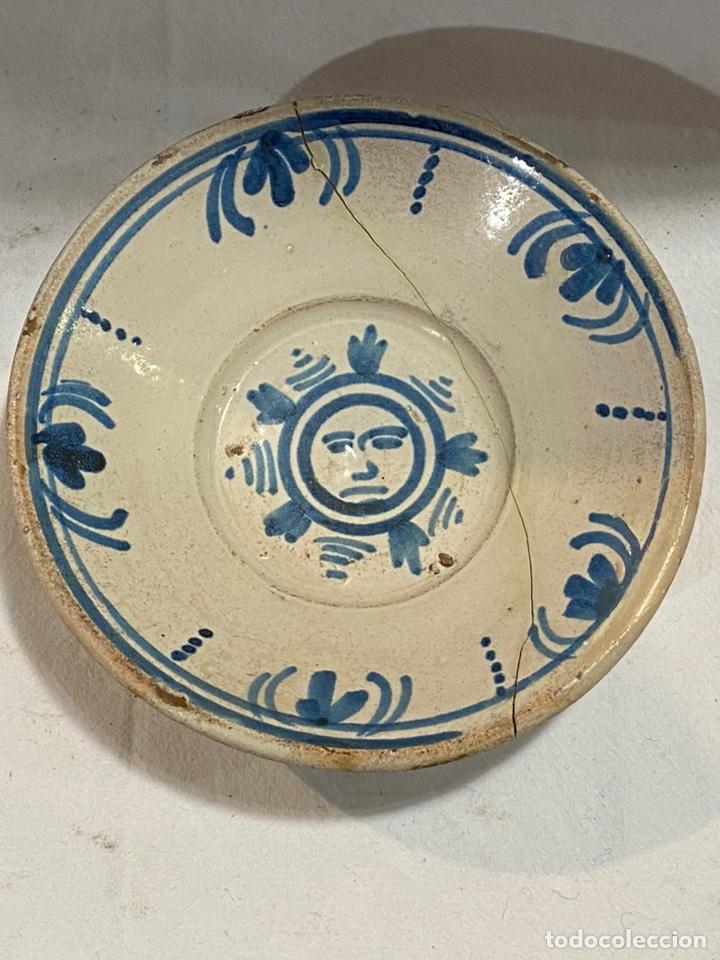PLATO EN CERÁMICA AZUL DE TERUEL S. XVIII (Antigüedades - Porcelanas y Cerámicas - Teruel)