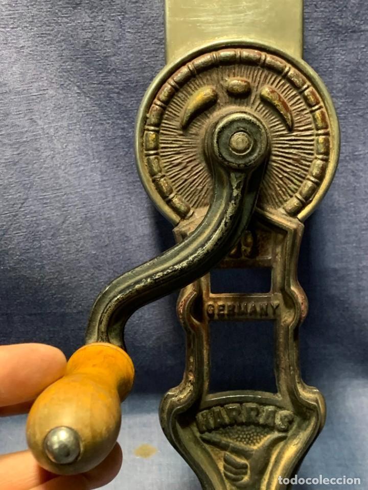 Antigüedades: PICADORA PRINCIPIO DEL S XX MTAL MADERA GERMANY HARRAS - Foto 3 - 233233675