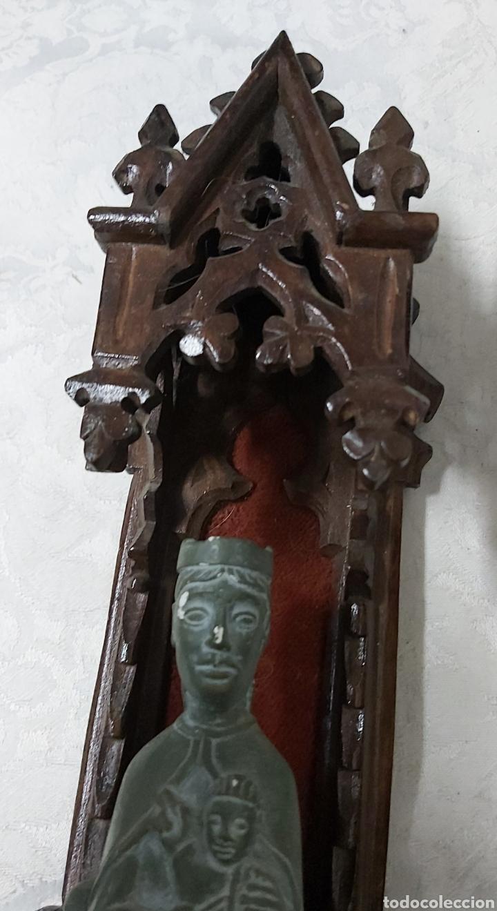 Antigüedades: ANTIGUA CAPILLA CON LA VIRGEN DE MONTSERRAT. MORENETA - Foto 2 - 233299330
