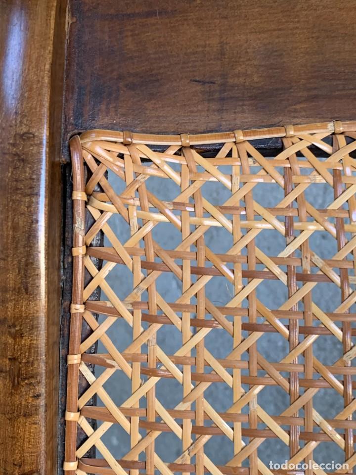 Antigüedades: PEQUEÑA MECEDORA MADERA CAOBA REJILLA MITAD S XIX ISABELINA 85X47CMS - Foto 4 - 233363070