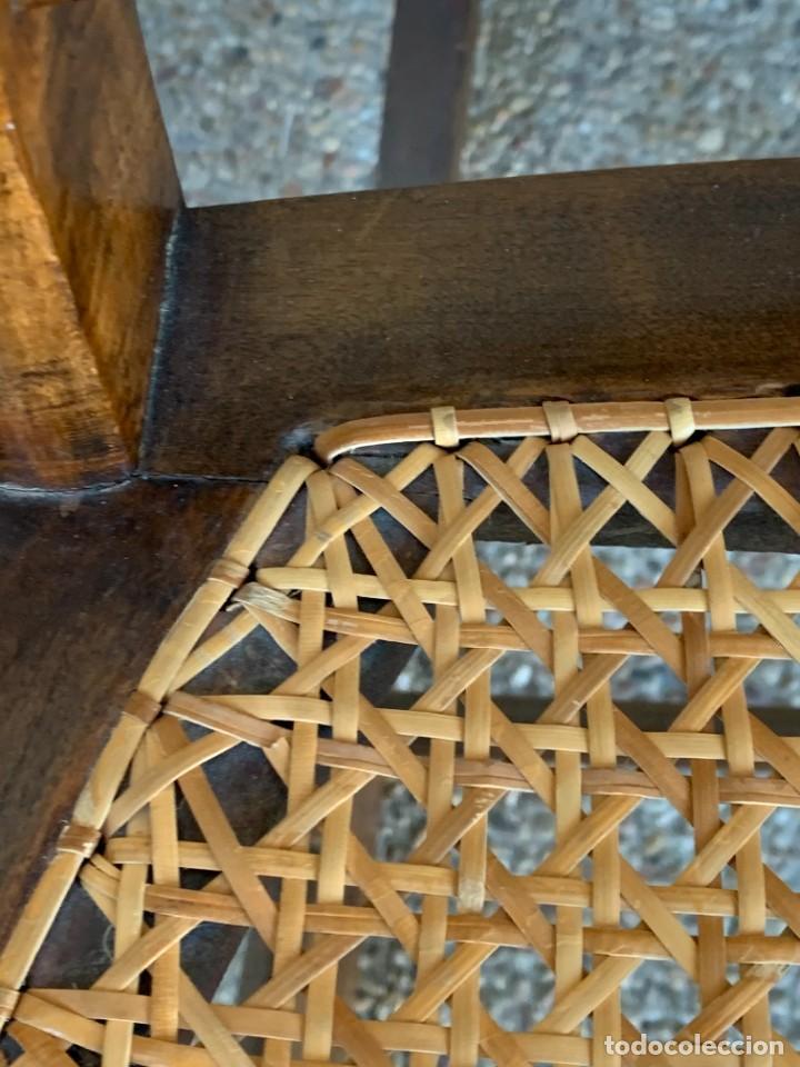 Antigüedades: PEQUEÑA MECEDORA MADERA CAOBA REJILLA MITAD S XIX ISABELINA 85X47CMS - Foto 8 - 233363070
