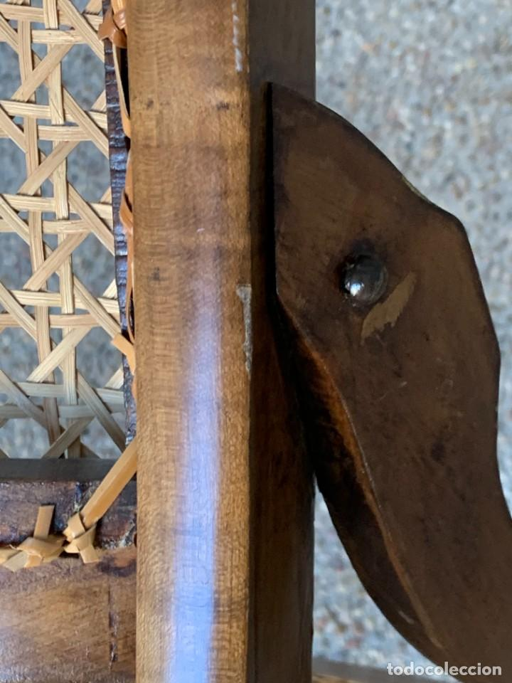 Antigüedades: PEQUEÑA MECEDORA MADERA CAOBA REJILLA MITAD S XIX ISABELINA 85X47CMS - Foto 28 - 233363070
