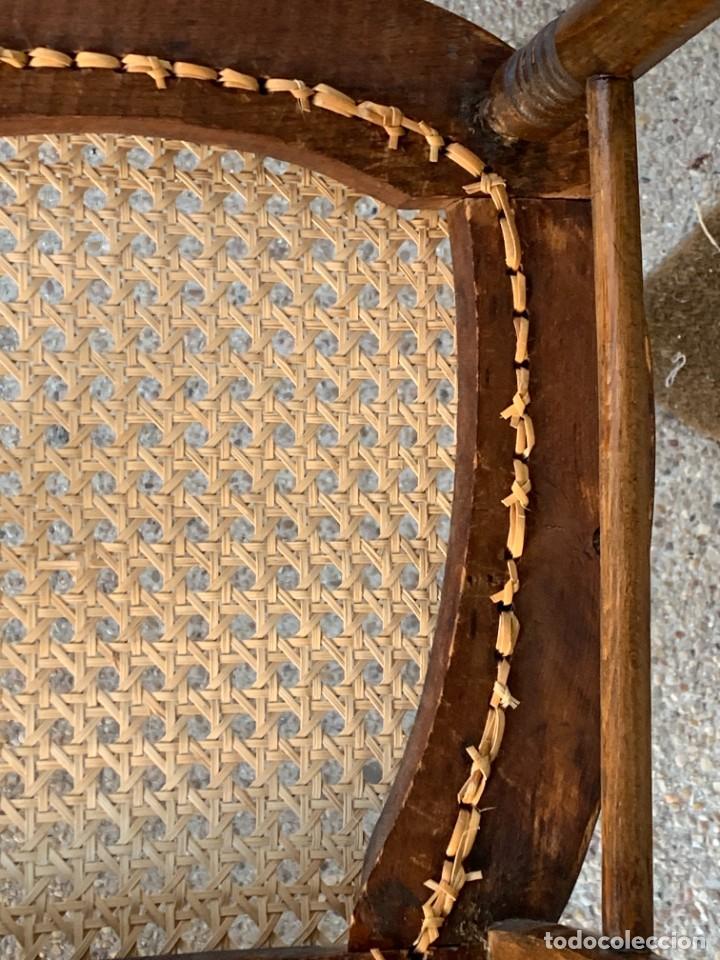 Antigüedades: PEQUEÑA MECEDORA MADERA CAOBA REJILLA MITAD S XIX ISABELINA 85X47CMS - Foto 31 - 233363070
