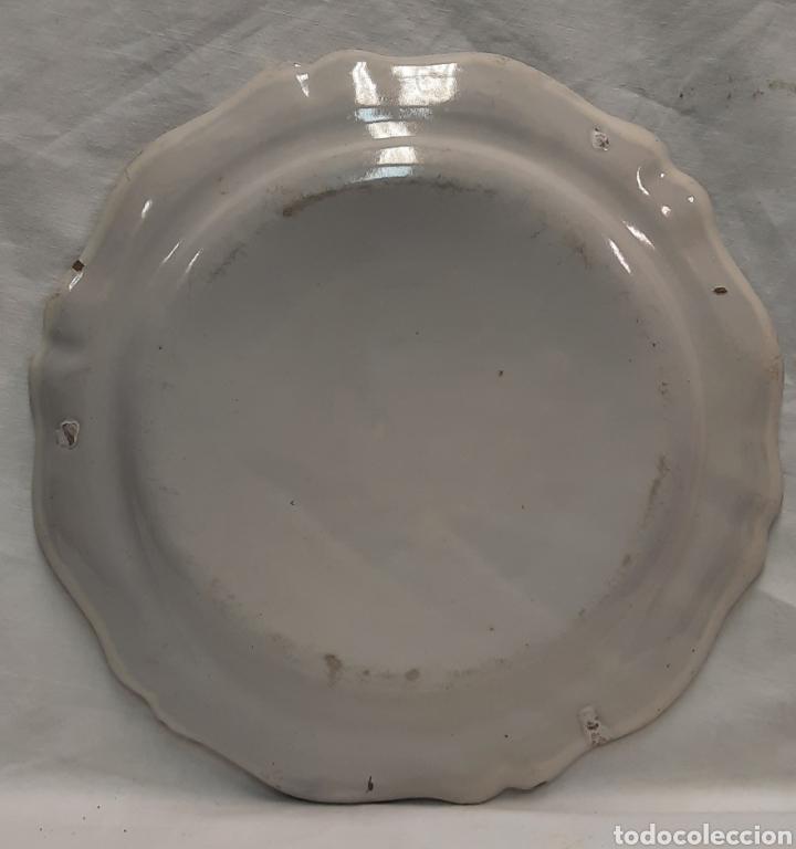 Antigüedades: Plato ceramica francesa moustiers - Foto 5 - 233371895