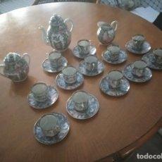 Antiguidades: JUEGO COMPLETO DE CAFE DE CERAMICA DE MACAO DE 12 TAZAS NUNCA UTILIZADO,. Lote 233375420