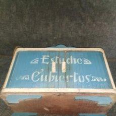 Antigüedades: PRECIOSA CAJA ESTUCHE PARA CUBIERTOS. AÑOS 40. Lote 233384190
