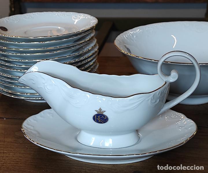 Antigüedades: Vajilla Porcelana George V - Royal Kent Collection - Completa - Nueva sin Estrenar - con Cajas - Foto 19 - 251324285