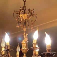 Antigüedades: LAMPARA DE ARAÑA MUY ANTIGUA. Lote 233484735