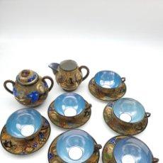 Antigüedades: JUEGO PORCELANA JAPONESA SATSUMA ( CAFÉ ) VER FOTOS. Lote 233498440