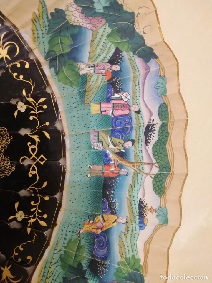 Antigüedades: Abanico oriental. Ojo de nácar. - Foto 5 - 225713650