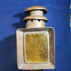 Antigüedades: ANTIGUO FARO CARRUAJE . COBRE. Lote 233564050
