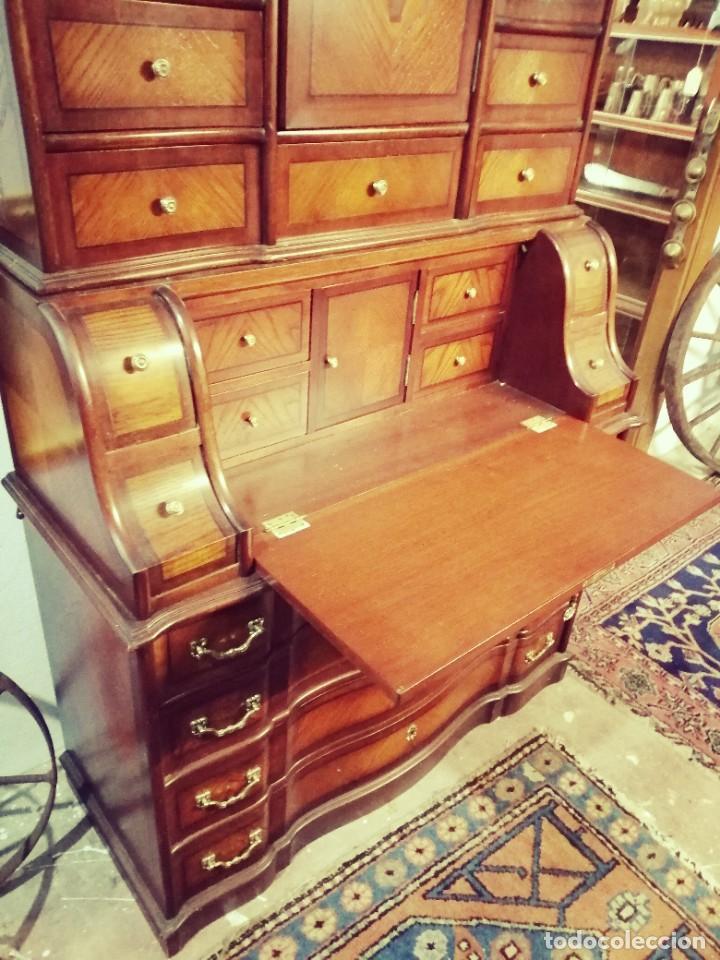 """Antigüedades: """"Bureau"""" de roble y castaño años 1960s - Foto 2 - 233565300"""