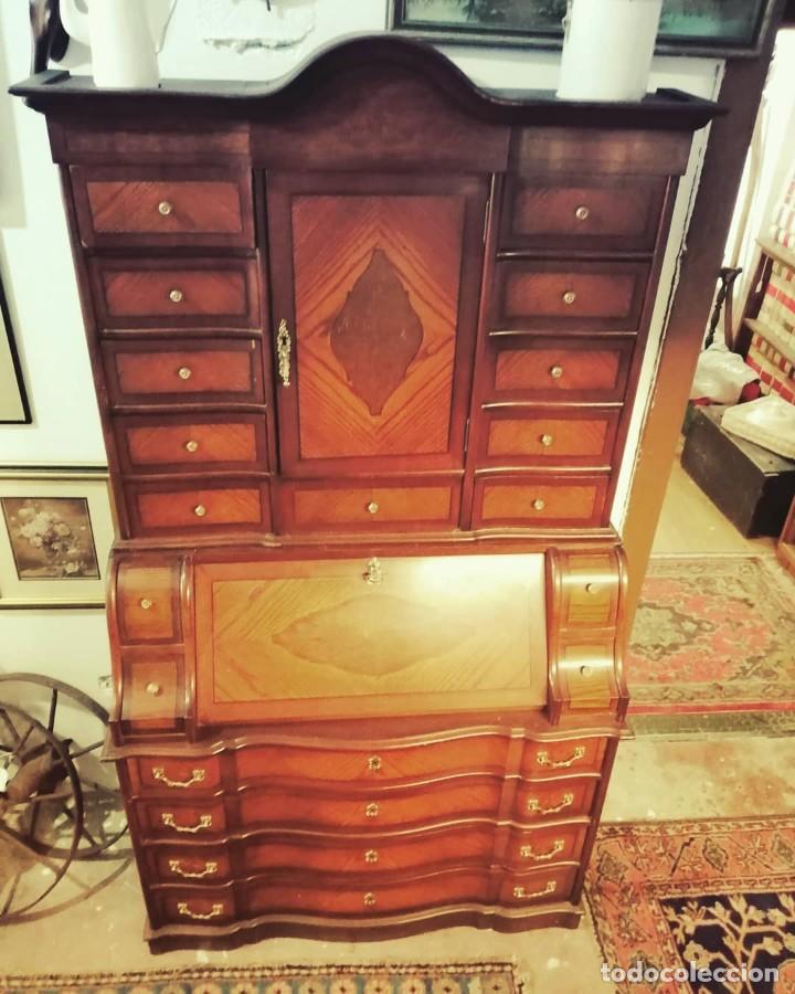 """Antigüedades: """"Bureau"""" de roble y castaño años 1960s - Foto 3 - 233565300"""