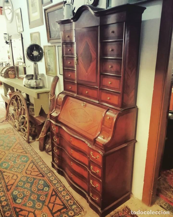 """Antigüedades: """"Bureau"""" de roble y castaño años 1960s - Foto 4 - 233565300"""
