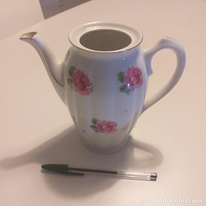 Antigüedades: Cafetera o tetera de porcelana. Santa Clara. Vigo.+ regalo. - Foto 4 - 190168372