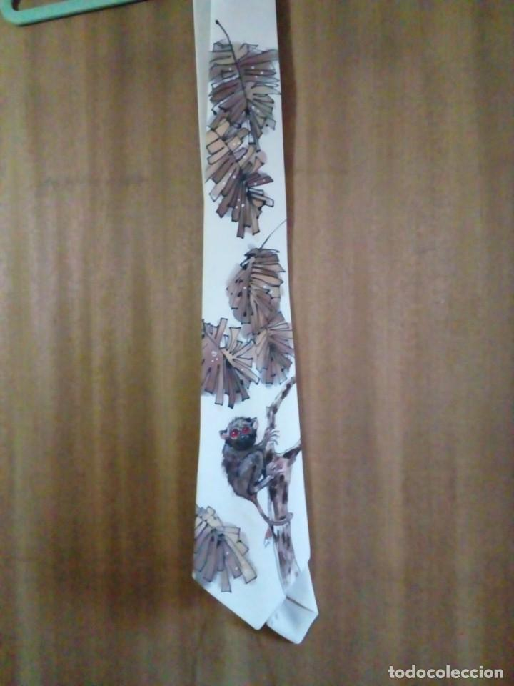 Antigüedades: corbata artesanal pintada a mano - Foto 2 - 233616340