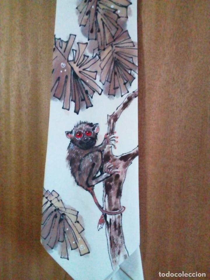 Antigüedades: corbata artesanal pintada a mano - Foto 3 - 233616340