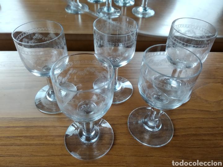 BACARAT PEQUEÑAS COPAS CRISTAL FINO. TALLADAS FILIGRANA. (Antigüedades - Cristal y Vidrio - Baccarat )