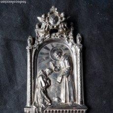 Antigüedades: MAGNIFICO ANTIGUO ORNAMENTO SAN FRANCISCO METAL PLATEADO ZXY. Lote 233655595