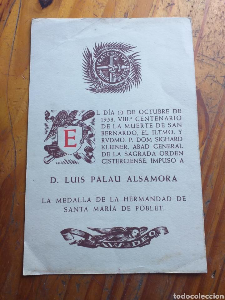 Antigüedades: POSTER F.C.B. BARCELONA,FALANGES JUVENILES DE FRANCO, XAVIER BARBERA TERRES DE LLEIDA ,POBLET ,ETC - Foto 20 - 233662515