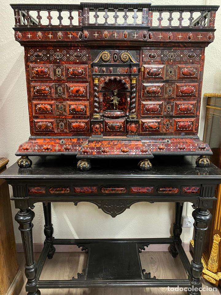 BARGUEÑO BARROCO MEXICANO S.XVII. (Antigüedades - Muebles Antiguos - Bargueños Antiguos)