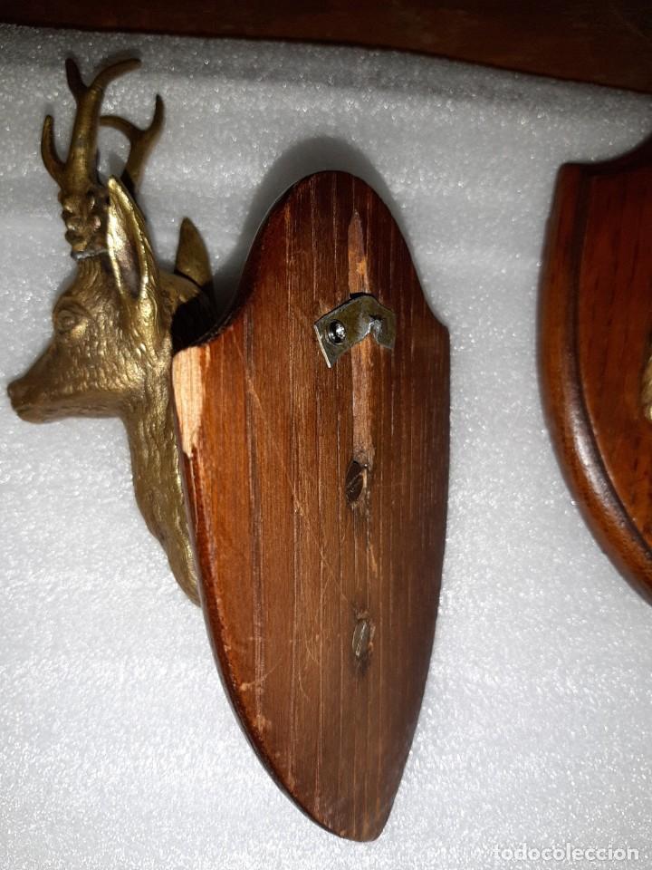 Antigüedades: DOS MINIATURAS DE TROFEOS EN BRONCE CORZO Y OSO - Foto 14 - 107686635