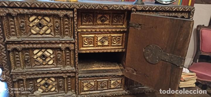 Antigüedades: Bargueño policromado siglo xvii - Foto 4 - 233700570