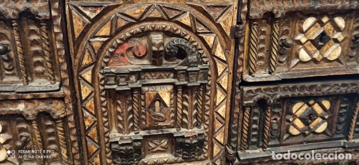 Antigüedades: Bargueño policromado siglo xvii - Foto 5 - 233700570