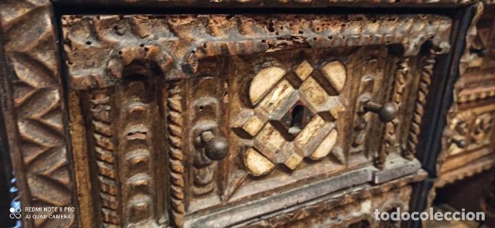 Antigüedades: Bargueño policromado siglo xvii - Foto 6 - 233700570