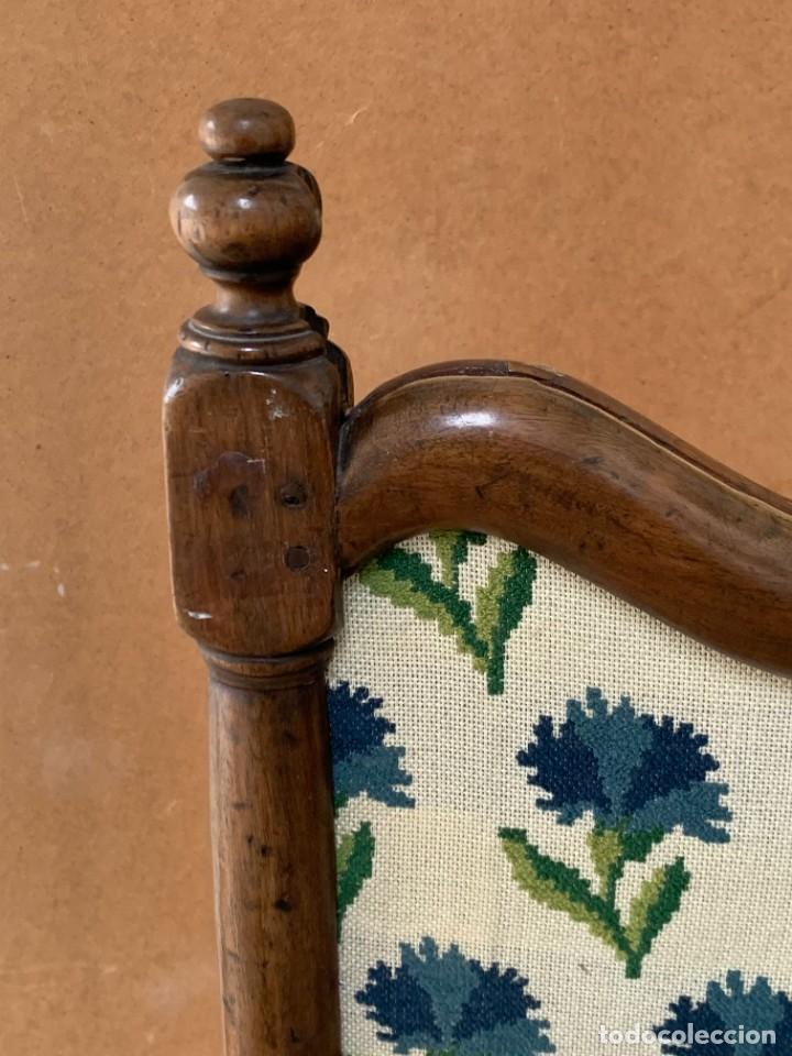 Antigüedades: pantalla chimenea nogal estilo luis Xiii luis XIV sxviii gros point flores 130x77x37cms - Foto 2 - 233707600